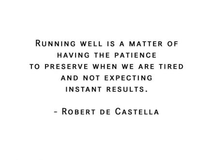 RUNNING WELL IS…